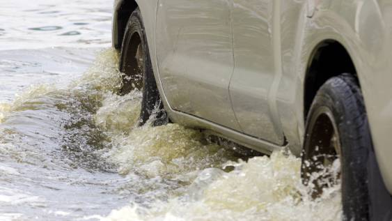 driving in floodwater