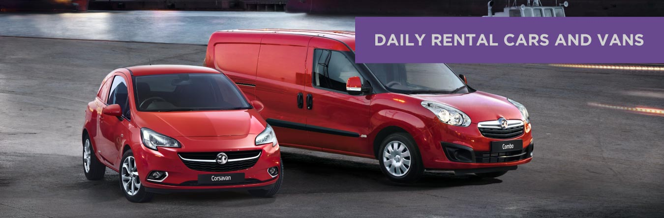 daily rental cars and vans