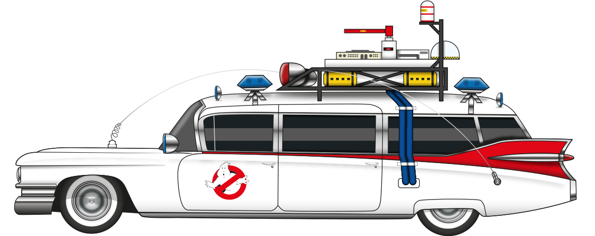 Ghostbusters Cadillac Miller Meteor Ecto-1