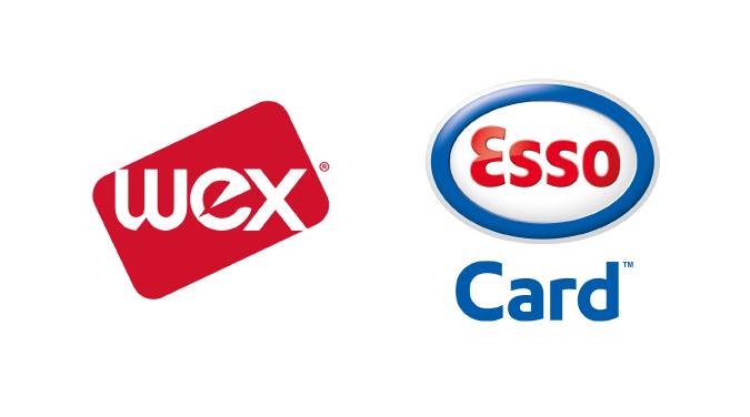 Wex and Esso Card logos.
