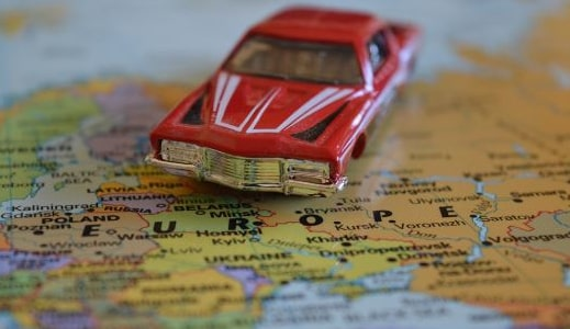 red-car-on-map-of-europe