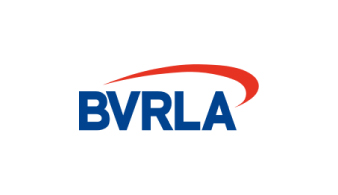 BVRLA logo in white, red and blue.