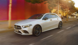 Mercedes-Benz A Class AMG Line in white.