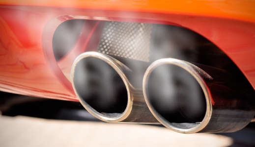 Close up of exhaust pipe